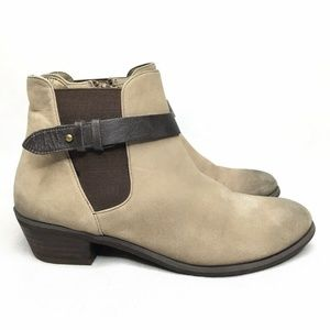 Brass Plum BP Tan Chelsea Boots Leather Strap Side